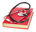 Stethoscope and book Stock Photo
