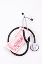Stethoscope chinese currency Royalty Free Stock Photography