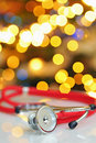 Stethoscope and christmas time Royalty Free Stock Photo
