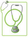 Stethoscope icon and border Royalty Free Stock Photos