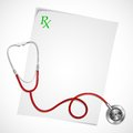 Stethoscope on Prescription Royalty Free Stock Image