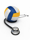 Stethoscope and volleyball Stock Photo