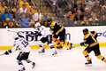 Steve Downie battles Zdeno Chara Stock Photos