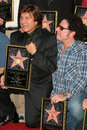 Steve perry neal schon and at journey s induction into the hollywood walk of fame hollywood blvd hollywood ca Stock Photography