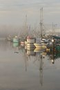 Steveston Harbor, Morning Fog Royalty Free Stock Image