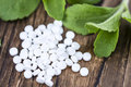 Stevia sweetener pills Royalty Free Stock Photo