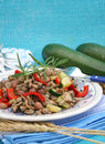A stew of beans and meat fresh vegetables Stock Photo