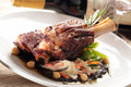 Stew lamb shank Stock Photo