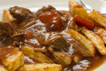 Stew n Chips Stock Photo