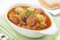 Stew Spanish Pork and  Chorizo Casserole Stock Photography