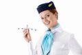 Stewardess Royalty Free Stock Photo