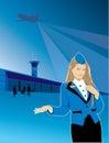 Stewardess airport travel flight Royalty Free Stock Photo