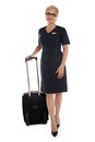 Stewardess going to work Royalty Free Stock Images
