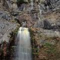 Stewart falls, Mount Timpanogos Wilderness, Wasatch Range, Utah Royalty Free Stock Photo