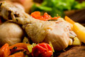 Stewed Chicken with vegetables Stock Photography