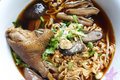 Stewed duck noodles the with entrails Royalty Free Stock Image