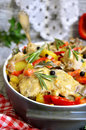 Stewed rabbit traditional maltese cuisine Royalty Free Stock Photo