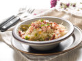 Stewed sauerkraut with bacon and dill selective focus Stock Photos