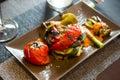 Stewed vegetables in cafe