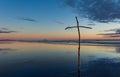 Stick Beach Cross Royalty Free Stock Photo