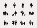 Stick figure. Family. Vector