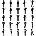 Stick figure positions set vector icon eps file available Stock Photo
