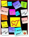 Stick notes - love notes - vector Stock Image