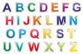 Sticker alphabet Royalty Free Stock Photo
