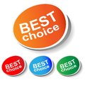 Sticker best choice Stock Photography