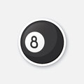 Sticker black billiard ball