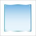 Sticker Blue Glass Vector Isol...