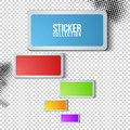 Sticker collection Royalty Free Stock Photos