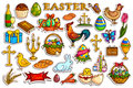 Sticker collection for Easter holiday celebration object