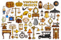 Sticker collection for vintage and antique object