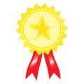 Sticker difference. Reward for achievement. certification sign