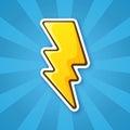 Sticker electric lightning bolt Royalty Free Stock Photo