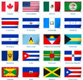 Sticker flags america vector illustration of from Royalty Free Stock Photos