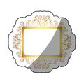 sticker golden square vintage baroque frame