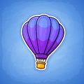 Sticker of hot air balloon