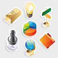 Sticker icon set for business Royalty Free Stock Photography