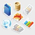 Sticker icon set for retail Royalty Free Stock Photos