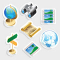 Sticker icon set for travel Stock Image