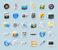 Sticker icons for media Royalty Free Stock Images