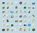 Sticker icons for technology and devices Royalty Free Stock Image