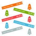 Sticker label color set vector eps Royalty Free Stock Image