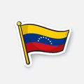 Sticker national flag of Venezuela