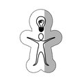 sticker person that have a good idea icon Royalty Free Stock Photo