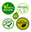 Sticker set: 100% natural Royalty Free Stock Images