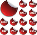 Sticker Set Royalty Free Stock Photo