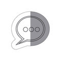 sticker silhouette speech bubble with suspending points icon Royalty Free Stock Photo